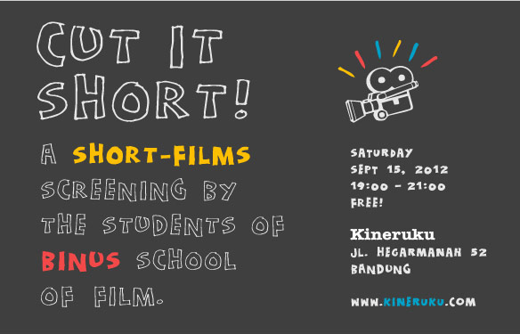 <b>Cut It Short!</b> A Short-Films Screening