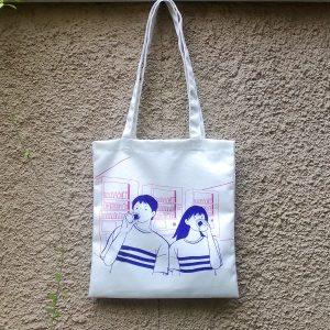 Boy and Girl Tote Bag