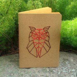 Pocket Note Sulam - Angry Owl
