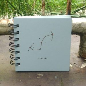 Square Notebook - Scorpio